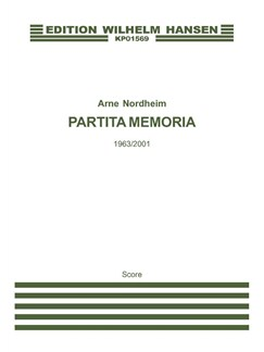 Arne Nordheim: Partita Memoria Bog | Violin, Slagtøj, Orgelledsagelse