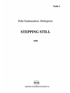 Pelle Gudmundsen-Holmgreen: Steppng Still (Parts) Books | String Instruments