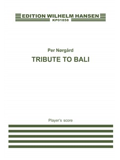 Per Nørgård: Tribute To Bali (player's score) Books | Marimba, Percussion