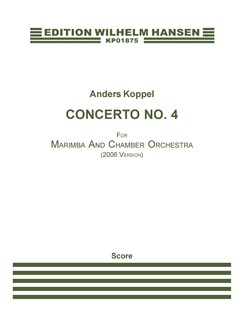 Anders Koppel: Concerto No. 4 For Marimba (2006 Version) (Score) Books | Marimba, String Ensemble