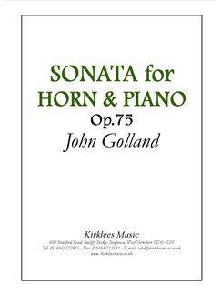 John Golland: Sonata For Horn And Piano Op. 75 Books | Tenor Horn, Piano Accompaniment
