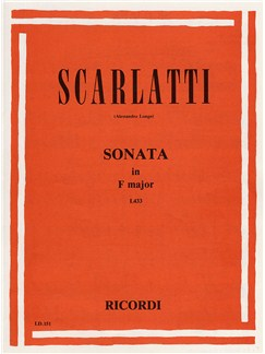 Domenico Scarlatti: Sonata In F 'Siciliana' Books | Piano