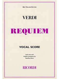 Giuseppe Verdi: Requiem (Ricordi Edition) - Vocal Score Books | Soprano, Alto, Tenor, Bass Voice, SATB, Piano Accompaniment