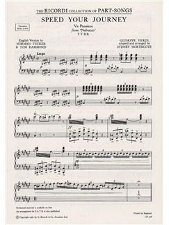 Giuseppe Verdi: Speed Your Journey (TTBB) Books | TTBB, Piano Accompaniment