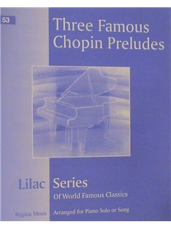 Frederic Chopin: Three Famous Chopin Preludes Books | Piano