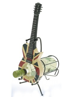Lesser & Pavey: Electric Guitar Wine Holder - Union Jack  | Electric Guitar