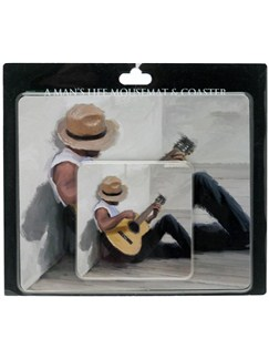 Lesser & Pavey: Man's Life Mouse Mat and Coaster Set  |
