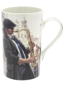 Lesser & Pavey: Man's Life Fine Chine Mug (Saxophone)  |