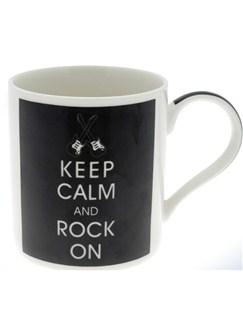 Lesser & Pavey: Keep Calm and Rock On Mug  |