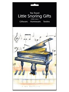 Little Snoring Gifts: Tea Towel (Piano)  |