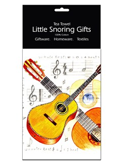 Little Snoring Gifts: Tea Towel (Acoustic Guitar)  |