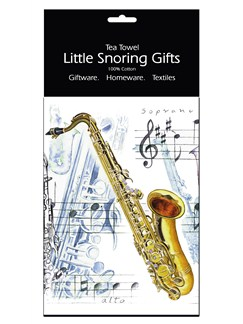Little Snoring Gifts: Tea Towel (Saxophone)  |