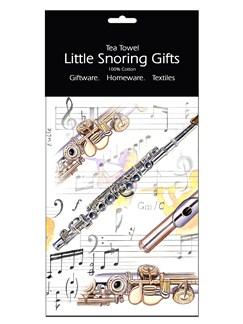 Little Snoring Gifts: Tea Towel (Flute)  |