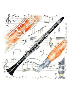 Little Snoring Gifts: Fridge Magnet - Clarinet  |