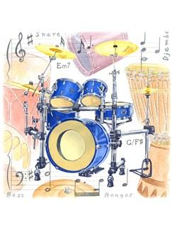 Little Snoring Gifts: Fridge Magnet - Drum  |