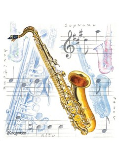 Little Snoring Gifts: Fridge Magnet - Saxophone  |