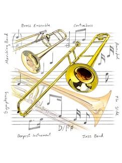 Little Snoring Gifts: Fridge Magnet - Trombone  |