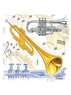 Little Snoring Gifts: Fridge Magnet - Trumpet  |