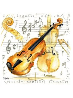 Little Snoring Gifts: Fridge Magnet - Violin  |