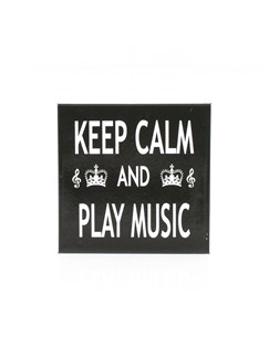 Little Snoring Gifts: Fridge Magnet - Keep Calm & Play Music  |