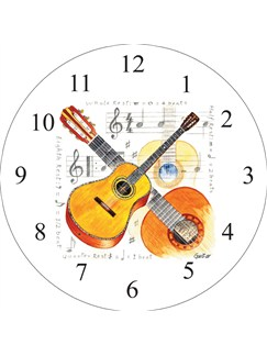 Little Snoring Gifts: Wall Clock - Guitar Design  |