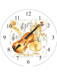 Little Snoring Gifts: Wall Clock - Violin Design  |