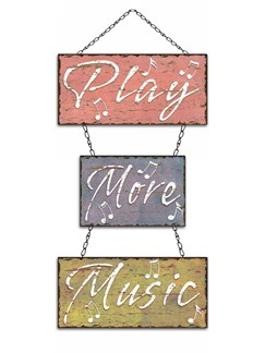Little Snoring Gifts: Metal Sign - Play More Music  |