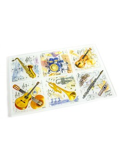 Little Snoring Gifts: Glass Kitchen Board - Assorted Instruments  |