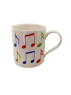 Little Snoring: Fine China Mug - Allegro (Music Notes)  |