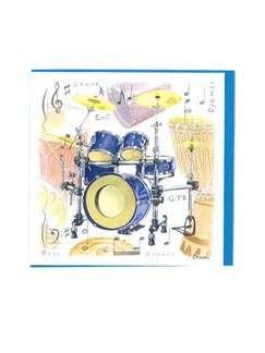 Little Snoring Gifts: Notelets Pack Of Five – Drum Design  | Trommer
