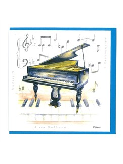 Little Snoring Gifts: Notelets Pack Of Five – Piano Design  | Klaver solo