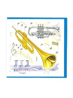 Little Snoring Gifts: Notelets Pack Of Five – Trumpet Design  | Trumpet
