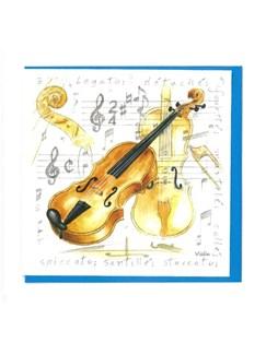 Little Snoring Gifts: Notelets Pack Of Five – Violin Design  | Violin