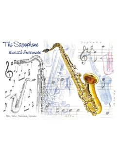 Little Snoring Gifts: 7x5 Greetings Card - Saxophone Design  |