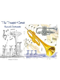 Little Snoring Gifts: 7x5 Greetings Card - Trumpet Design  |