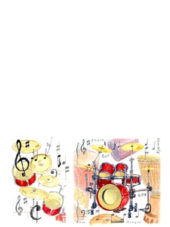 Little Snoring Gifts: A5 Writing Pad - Drum Design   