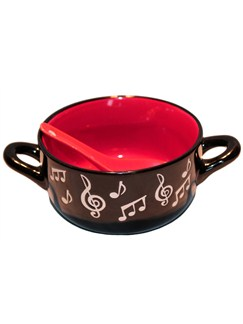 Music note bowl with spoon image
