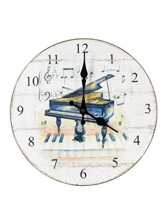 Little Snoring Gifts: Wall Clock - Piano Design  |