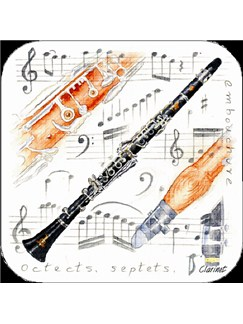 Little Snoring Gifts: Clarinet Coasters - Pack Of 4   