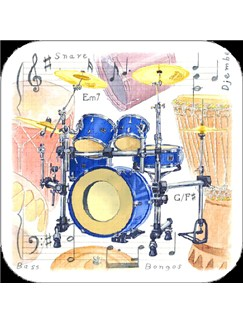 Little Snoring Gifts: Drums Coasters - Pack Of 4  |