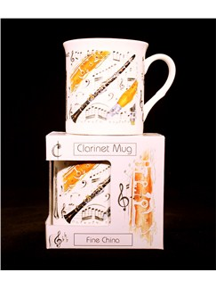 Little Snoring Gifts: Fine China Mug - Clarinet Design  |