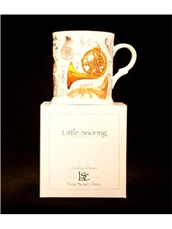 Little Snoring Gifts: Fine China Mug - French Horn Design  |