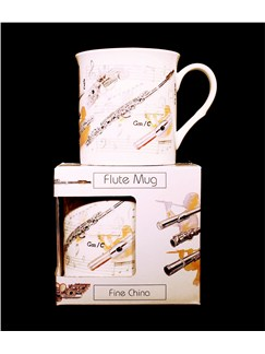 Little Snoring Gifts: Fine China Mug - Flute Design  |