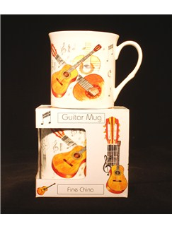 Little Snoring Gifts: Fine China Mug - Guitar Design  |