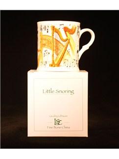 Little Snoring Gifts: Fine China Mug - Harp Design  |
