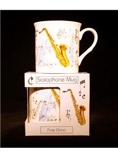 Little Snoring Gifts: Fine China Mug - Saxophone Design  |