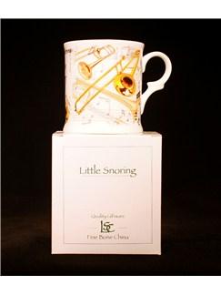 Little Snoring Gifts: Fine China Mug - Trombone Design  |