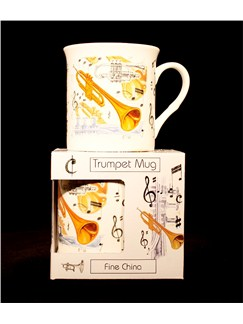 Little Snoring Gifts: Fine China Mug - Trumpet Design  |
