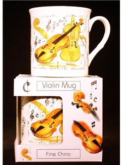 Little Snoring Gifts: Fine China Mug - Violin Design  |