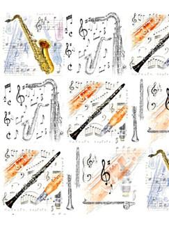 Little Snoring Gifts: Gift Wrap - Single 70 x 50cm Sheet (Saxophone Design)  |